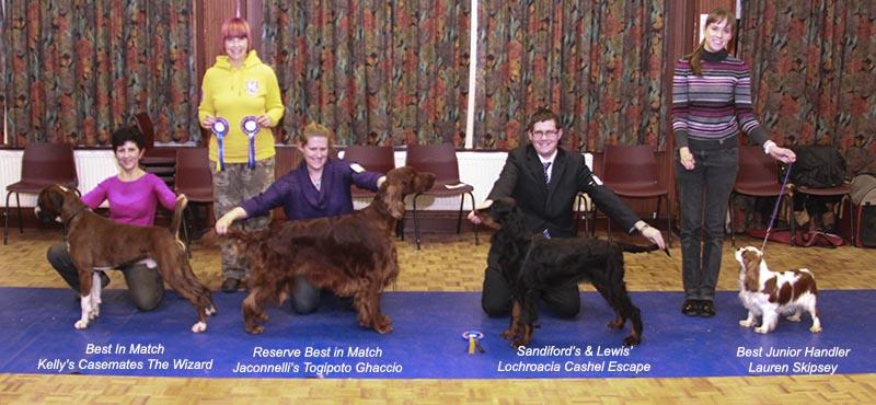February Winners with judge Sharon Sutherland.