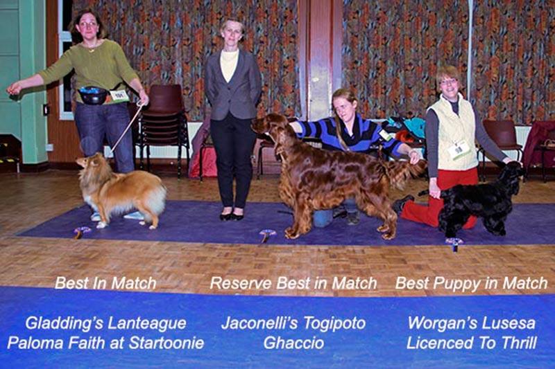 January winners with judge, Carol-Ann Carlton