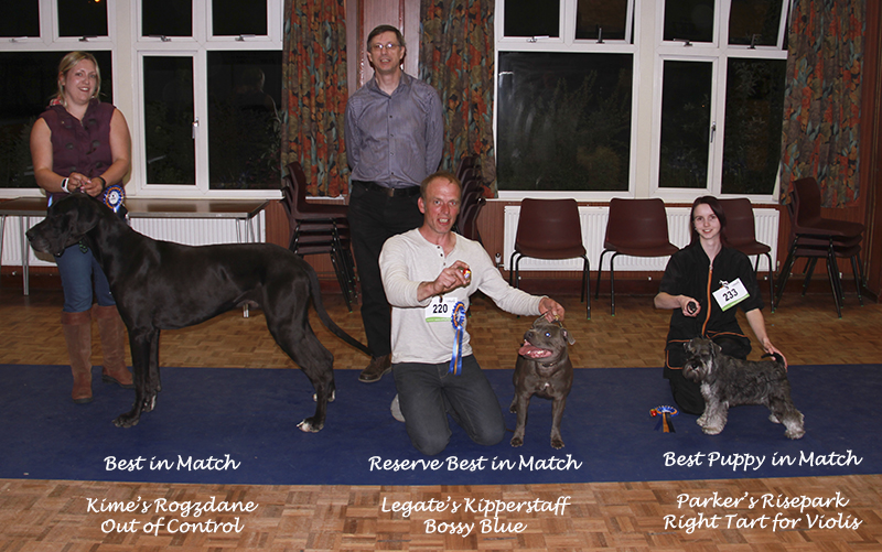 April winners with judge, David Worgan.