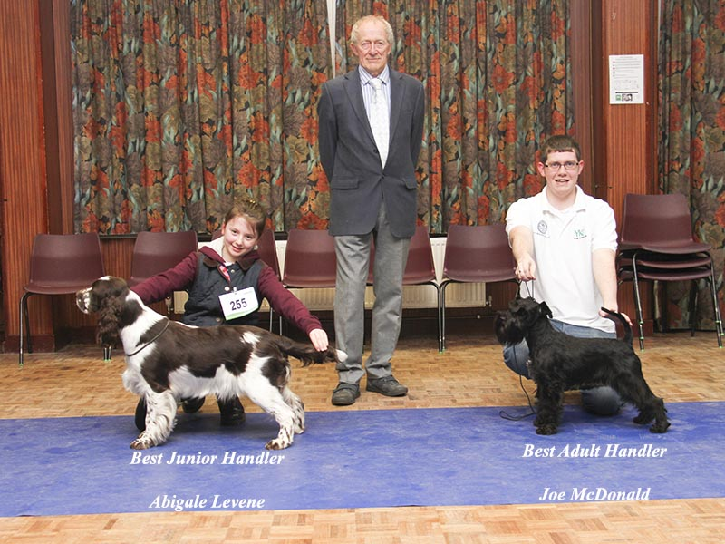 January Handlers with judge Geoff Cherry.