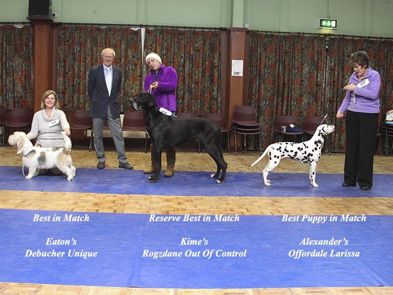 January winners with judge Geoff Cherry
